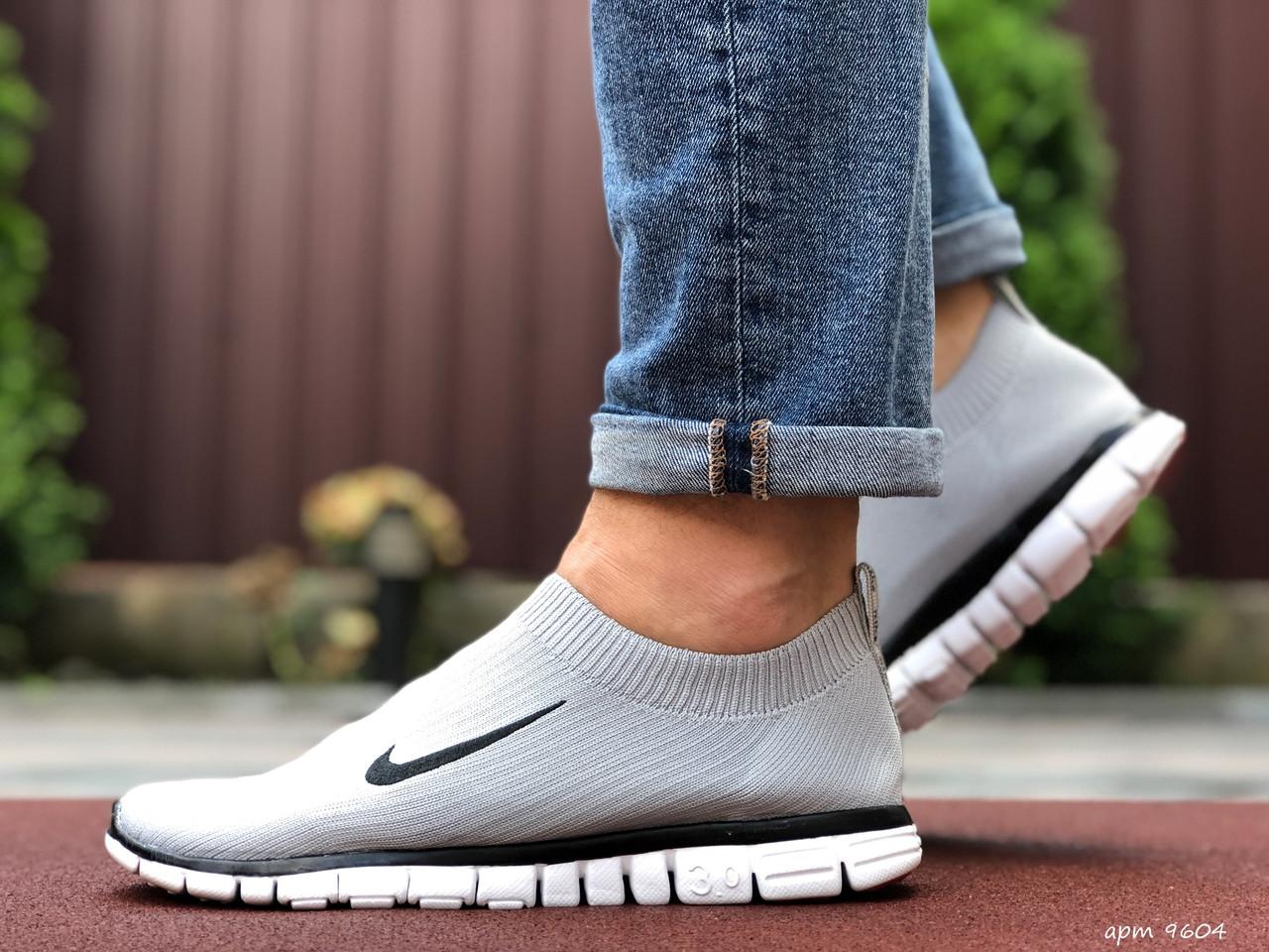 Чоловічі кросівки Nike Free Run 3.0 світло сірі
