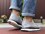 Чоловічі кросівки Nike Free Run 3.0 світло сірі, фото 2