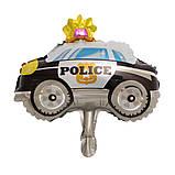 Куля фольга фігура міні поліцейська машина 30 см 1840, фото 2