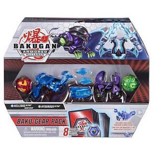 Bakugan Armored Alliance: Набор из четырех бакуганов с оружием Ниллиус и Гидориус
