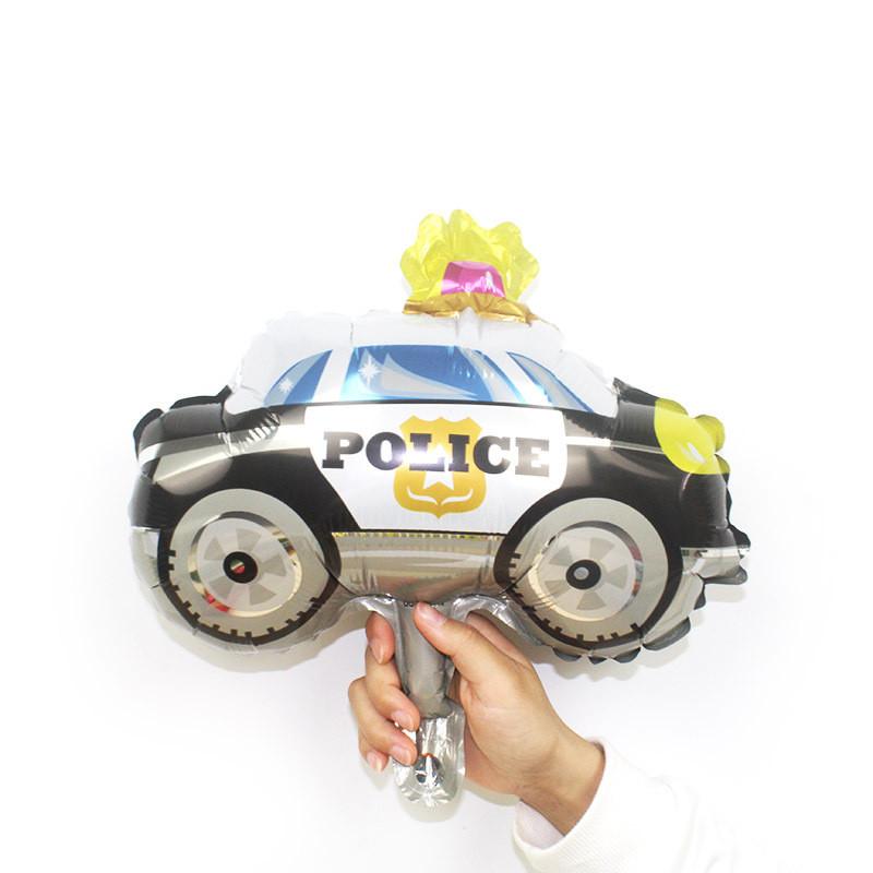Куля фольга фігура міні поліцейська машина 30 см 1840