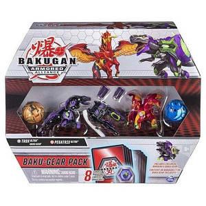 Bakugan Armored Alliance: Набор из четырех бакуганов с оружием Трокс и Пегатрикс