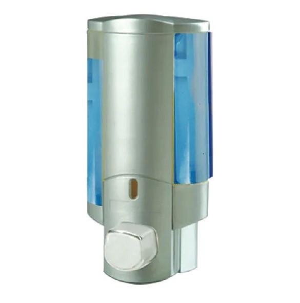 Дозатор Zerix для жидкого мыла настенный серый