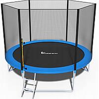 Батут FunFit 312 см с сеткой + лестница (2 места), фото 1