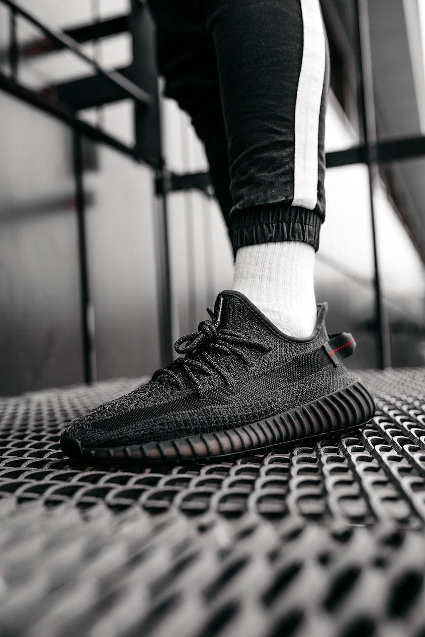 Кроссовки мужские Adidas Yeezy Boost 350 V2 Static Black (Reflective)
