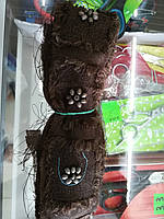 Тесьма декоративная 5 см 9 м  коричневая