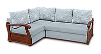 Угловой  диван  Варшава с деревянными подлокотниками фабрики Нота