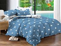 Двуспальный набор постельного белья Черешенка Gold №154068AB 180х220 Бязь Голубой (BC2G154068AB)