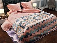 Двуспальный набор постельного белья Черешенка Gold №157402AB 180х220 Бязь Коралловый (BC2G157402AB)