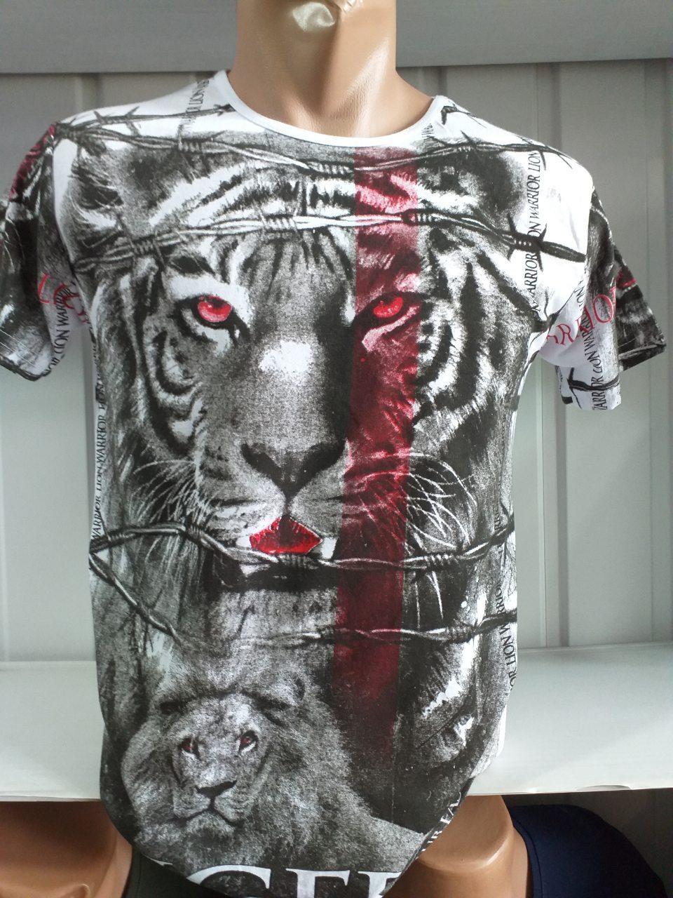 Чоловіча Футболка, PARADISE Tiger, Двостороння, з принтом