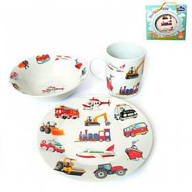 Детский набор столовой посуды Milika Motor Land 3 предмета ML0690-6