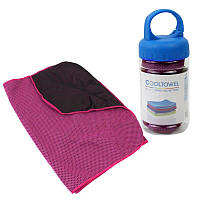 Полотенце спортивное охлаждающее LiveUp Cooling Towel Розовое