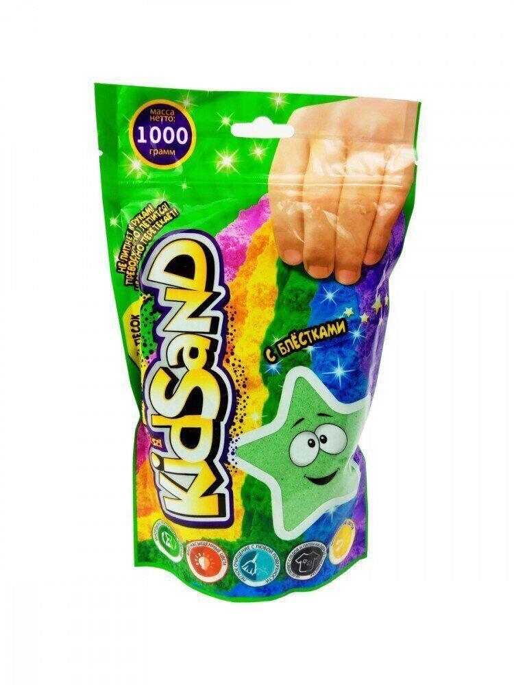 Кинетический песок Kidsand 1 кг Danko Toys (KS-03-01) зеленый