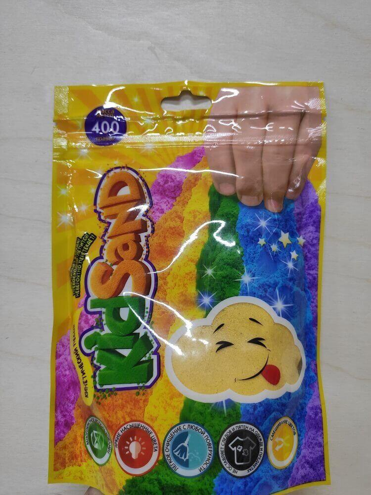 Кинетический песок Kidsand 400 грм Danko Toys (KS-03-03) желтый