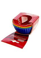 Форма для кекса силиконовая KAISER 6 штук Разноцветный M12-990001, КОД: 1705121