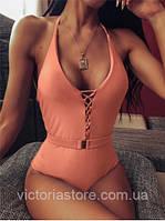 Женский Сдельный цельный слитный купальник  размер S/M