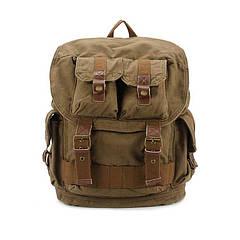 Чоловічий котоновий рюкзак S.c.cotton кольору хакі