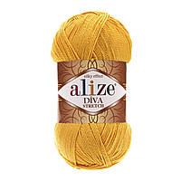 Пряжа Alize Diva Stretch , цвет 488 жёлтый