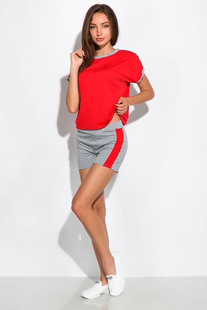 Костюм женский спортивный двухцветный (шорты, футболка)
