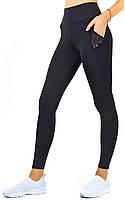 Женские лосины для фитнеса с карманами, черные спортивные леггинсы и лосины с высокой посадкой Valeri 1230