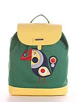 Стильный летний тканевой женский рюкзак Alba Soboni / альба собони  с принтом птицы тукана