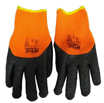 WERK WE2133 Перчатки трикотажные усиленные с латексным покрытием (Оранжевые)