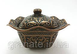 Лукумница квадратная Турция, цвет: медь 10*10*7 см