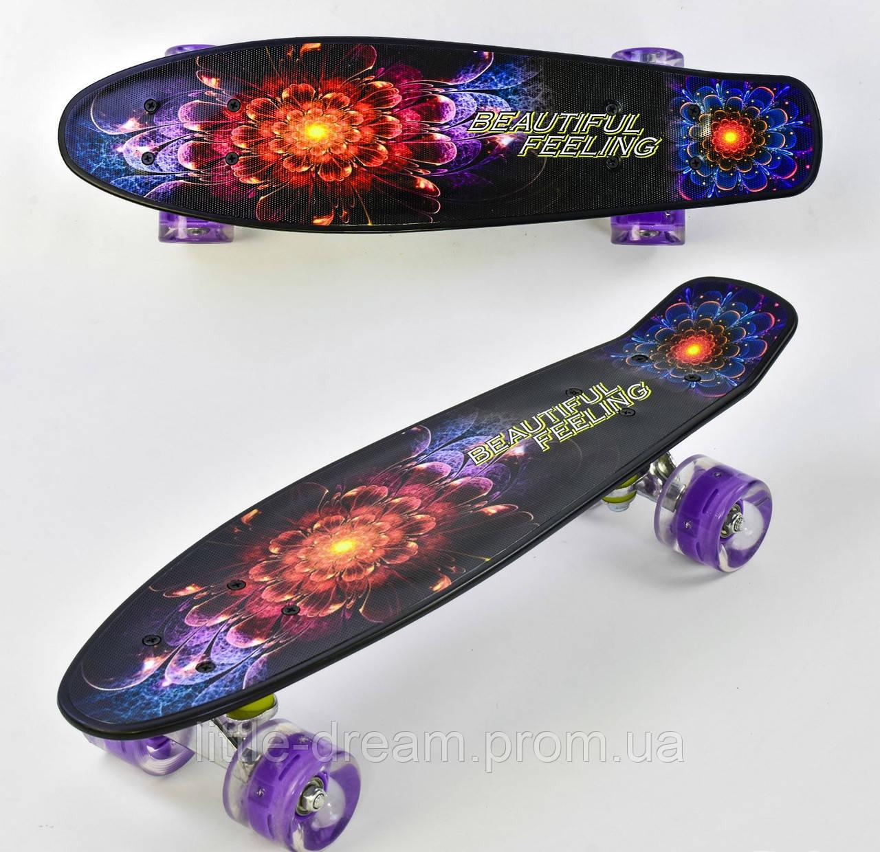 Пенниборд ( скейтборд ) колеса полиуретан с подсветкой