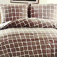 """""""Клета"""" Евро размер постельное белье ELWAY (Польша), 200/220 см, ткань сатин (100% хлопок)."""