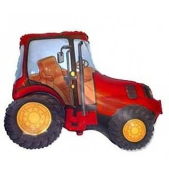 Шар из фольги Трактор Красный, Зеленый Размер 94 см х 76 см