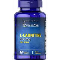 Л-карнитин Puritan s Pride L-Carnitine 500 mg - 60 каплет