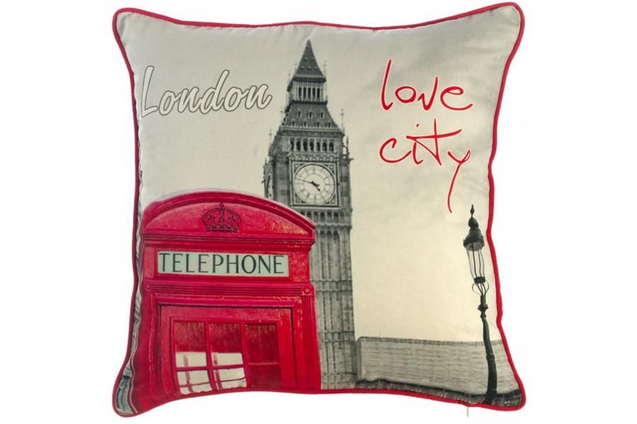 Подушка декоративная Я люблю Лондон