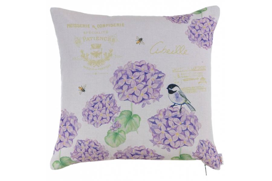 Подушка декоративная Лиловая гортензия