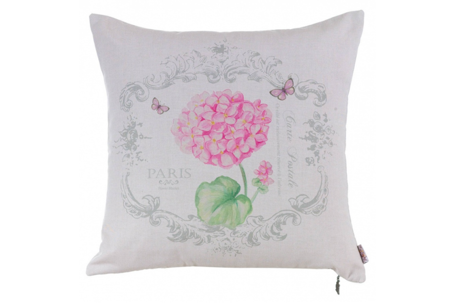 Подушка декоративная Розовая гортензия 2