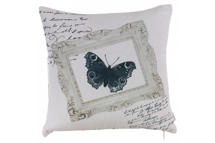 Подушка декоративная Черно-белая бабочка