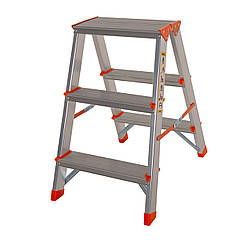 Стремянка двусторонняя алюминиевая Laddermaster Polaris A5A3. 2x3 ступеньки