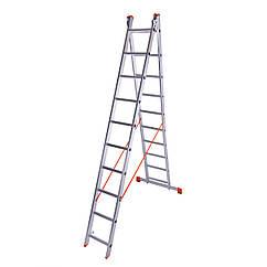 Лестница двухсекционная алюминиевая Laddermaster Sirius A2A10. 2x10 ступенек