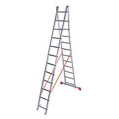 Лестница двухсекционная алюминиевая Laddermaster Sirius A2A12. 2x12 ступенек