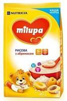 Молочна каша Milupa рисова з абрикосом для дітей з 5 місяців, 210 г