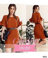 Нарядное женское платье с рукавами-оборками