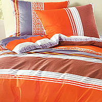 """""""Полоска"""" Евро размер постельное белье ELWAY (Польша), 200/220 см, ткань сатин (100% хлопок)."""