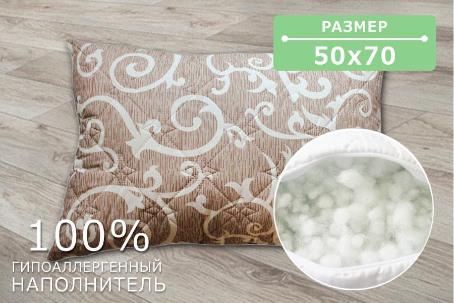 Подушка стеганая ХБ14, размер 50х70 см, ткань бязь, холлофайбер