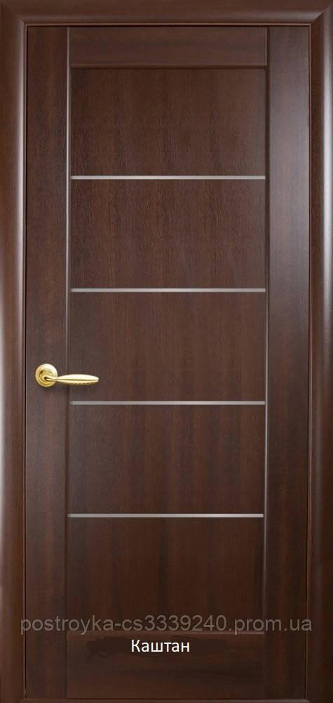 Двери межкомнатные Ностра Мира Новый Стиль ПВХ со стеклом сатин  60, 70, 80, 90