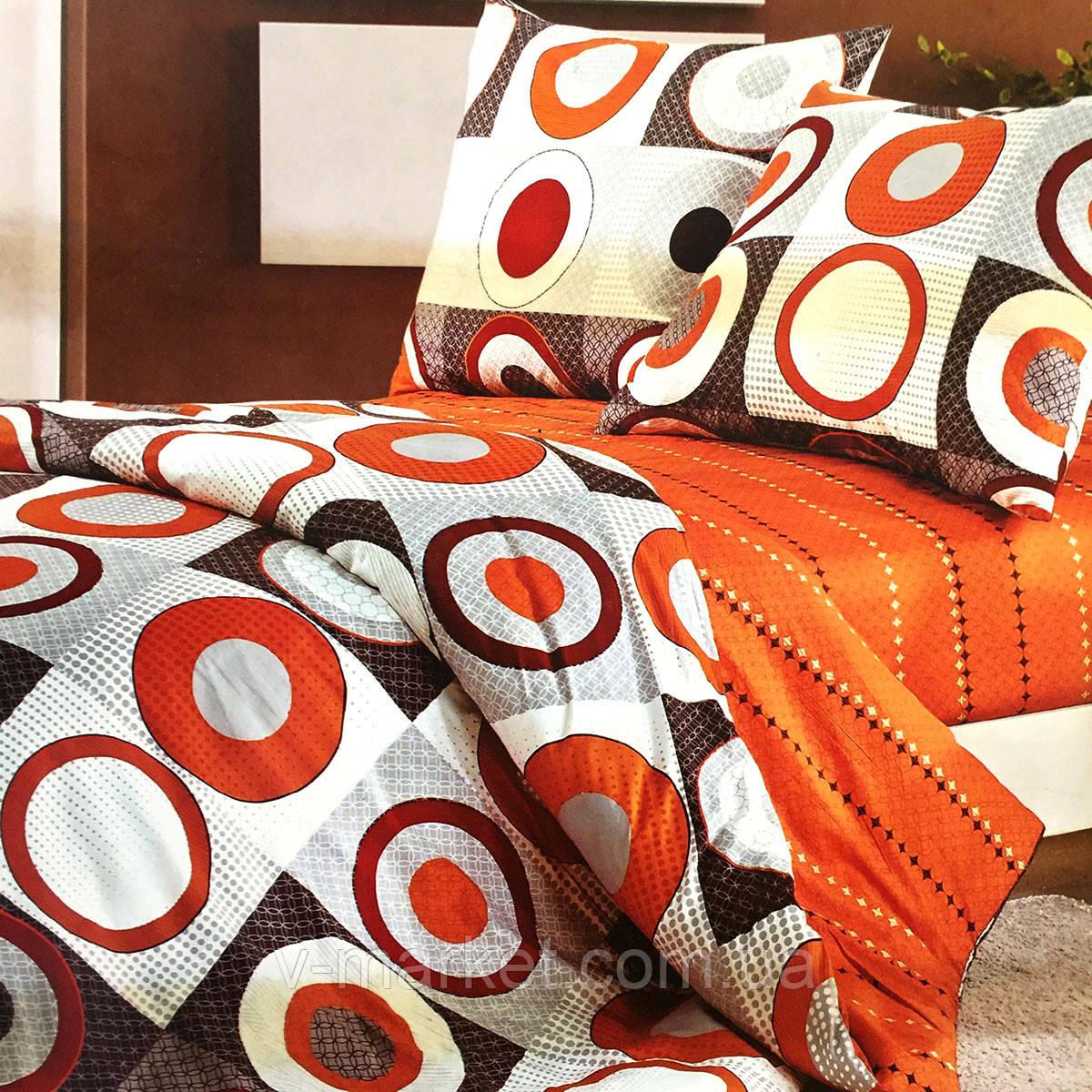 """""""Круги"""" Семейное постельное белье ELWAY (Польша), ткань сатин (100% хлопок)."""