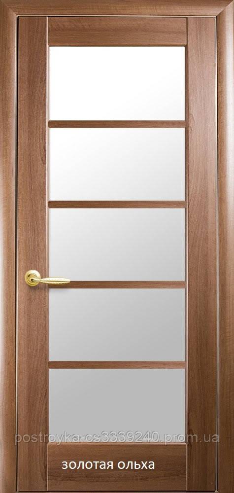 Двері міжкімнатні Ностра Муза Новий Стиль ПВХ зі склом сатин 60, 70, 80, 90