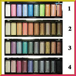 Тени для Век Meis MS-1008 Атласные Компактные Набором на 10 цветов, Упаковкой 24 шт., 4 тона