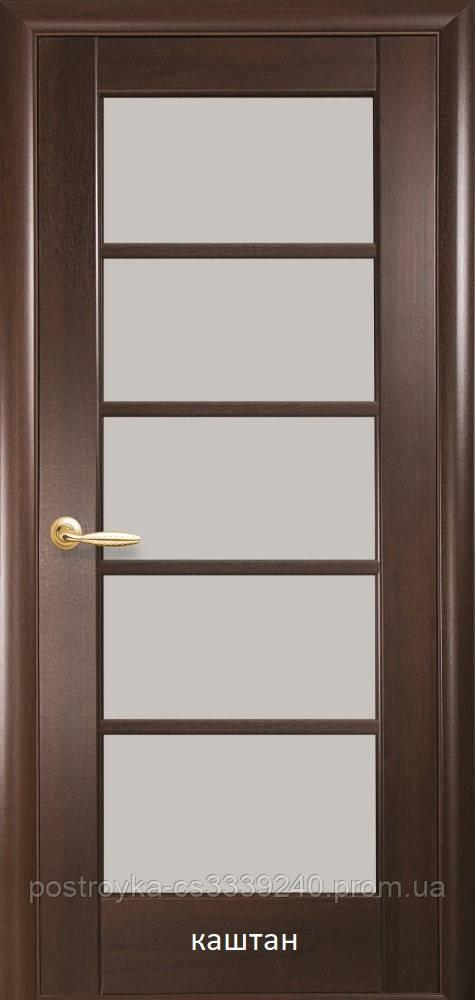 Двери межкомнатные Ностра Муза Новый Стиль ПВХ со стеклом сатин  60, 70, 80, 90