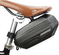 Вело сумка под седло карбоy жесткая водонепроницаемая, фото 1