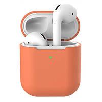 Чехол для AirPods 2 Wireless silicone case peach