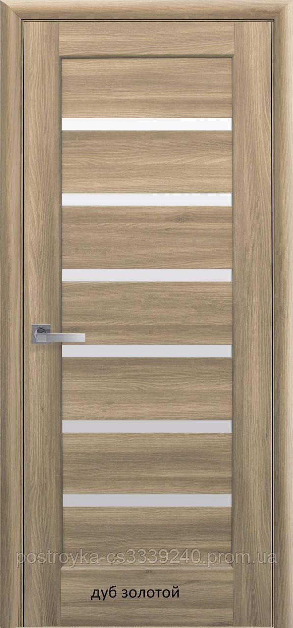Двери межкомнатные Ностра Линнея Новый Стиль ПВХ со стеклом сатин  60, 70, 80, 90